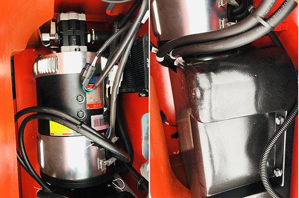 Motor nâng hạ và bơm thủy lực xe nâng điện 2 tấn